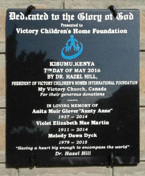 June 2016 - VFHC, Kenya - Building Dedication