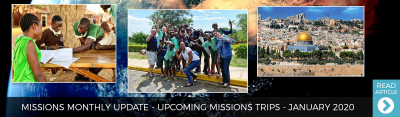 January 2020 - Upcoming Missions Trips